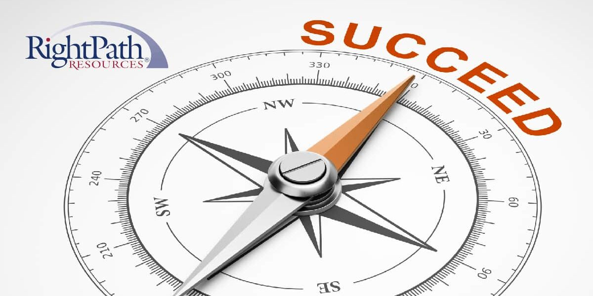 A compass points north toward text in orange that reads Succeed